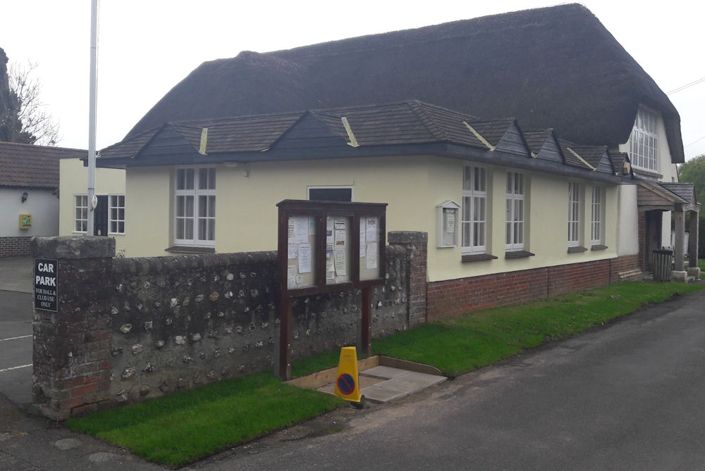 phot showing the position of the Bladen Social Club attached to the village hall