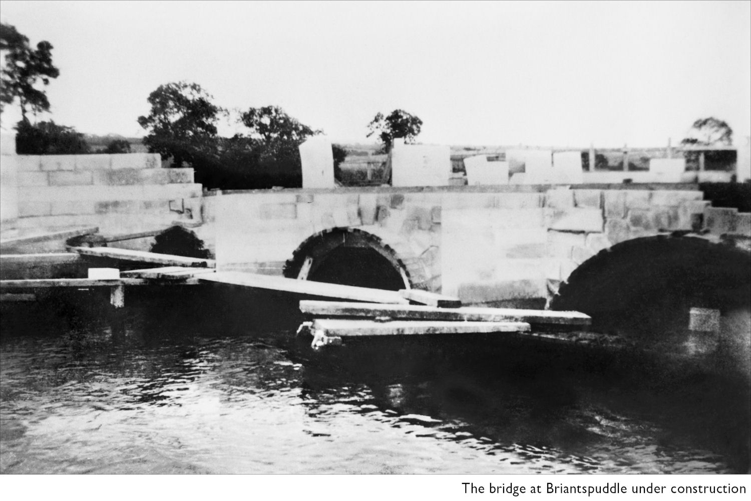 The new Briantspuddle bridge c 1922