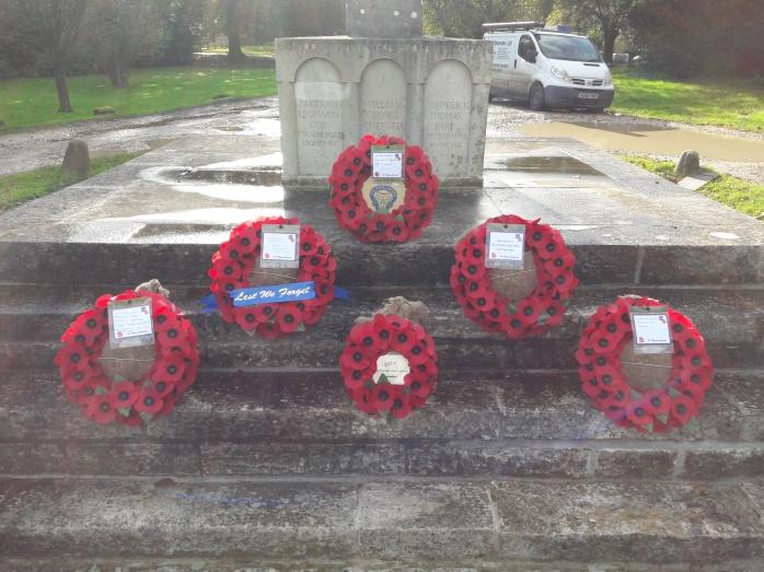 Wreaths laid at the Parsih war memorial