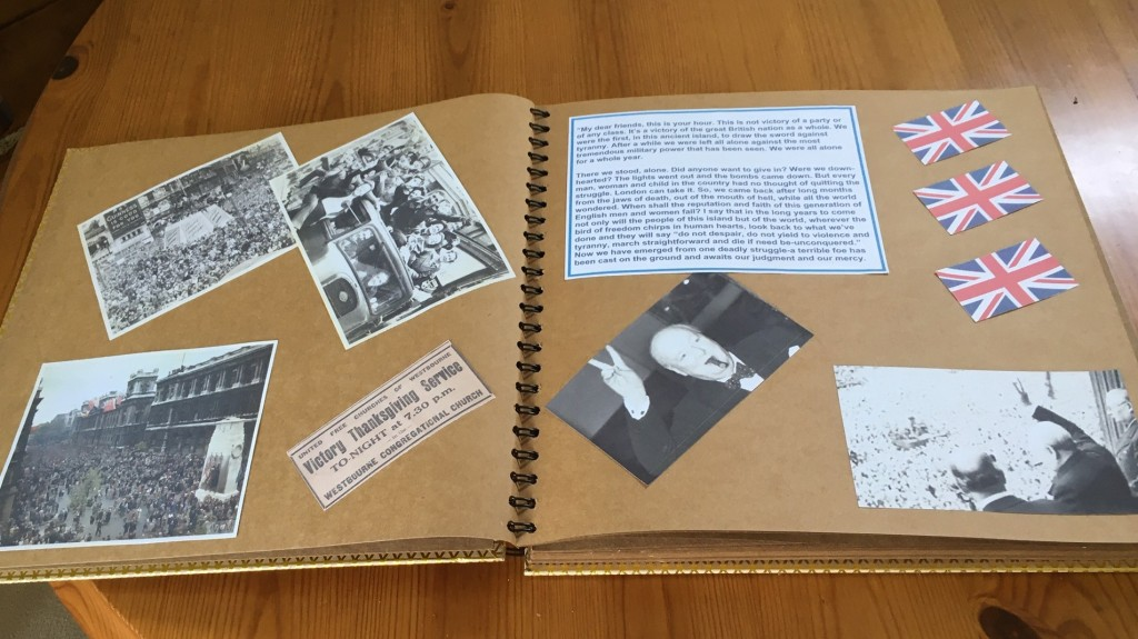 The scrap book under construction
