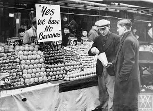 During WW11 the Government banned imports of bananas for 5 years.